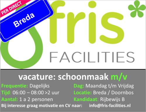 Vervuld Vacature Parttime Schoonmaak Breda Doornbos