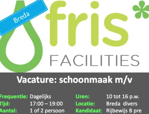 Vacature: Schoonmaakster kantoren Breda (parttime)