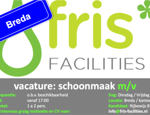 Vacature: Partime Schoonmaakster kantoren Breda (avond)